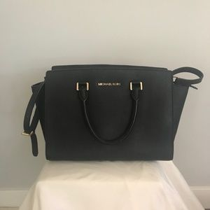 Michael Kors Selma Saffiano Leather Satchel